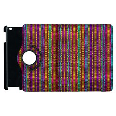 Star Fall In  Retro Peacock Colors Apple Ipad 2 Flip 360 Case