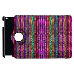 Star Fall In  Retro Peacock Colors Apple Ipad 3/4 Flip 360 Case