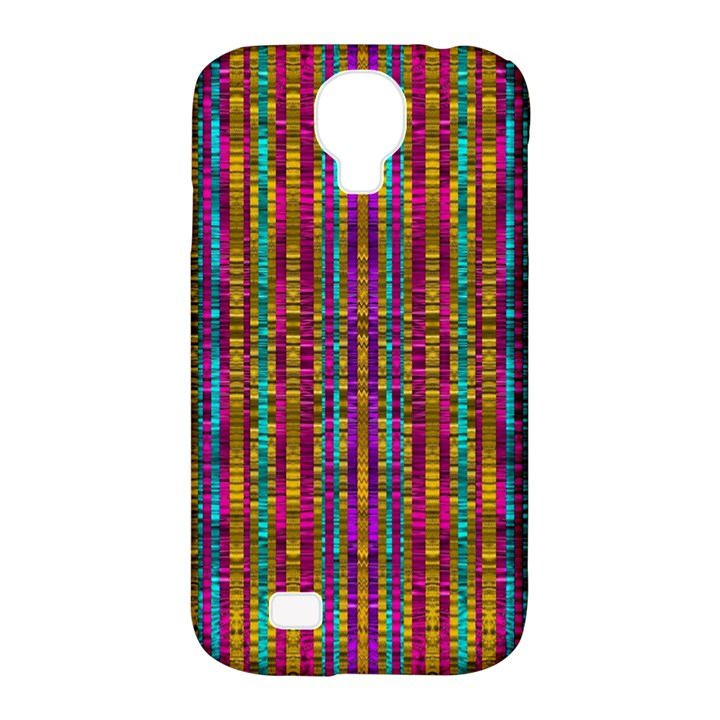 Star Fall In  Retro Peacock Colors Samsung Galaxy S4 Classic Hardshell Case (PC+Silicone)