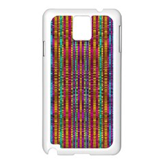 Star Fall In  Retro Peacock Colors Samsung Galaxy Note 3 N9005 Case (white)