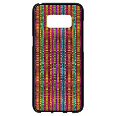 Star Fall In  Retro Peacock Colors Samsung Galaxy S8 Black Seamless Case