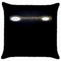 Black Lite!  Throw Pillow Case (black)