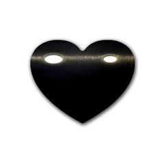 Black Lite!  Heart Coaster (4 Pack)
