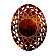World Spice! Oval Filigree Ornament (two Sides)