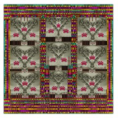 Wings Of Love In Peace And Freedom Large Satin Scarf (square)