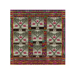 Wings Of Love In Peace And Freedom Small Satin Scarf (square)