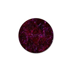 Damask1 Black Marble & Burgundy Marble (r) Golf Ball Marker (4 Pack)