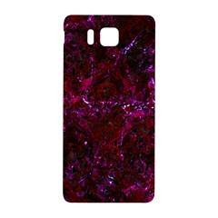Damask1 Black Marble & Burgundy Marble (r) Samsung Galaxy Alpha Hardshell Back Case