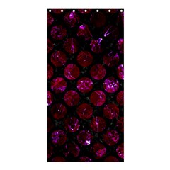 Circles2 Black Marble & Burgundy Marble Shower Curtain 36  X 72  (stall)