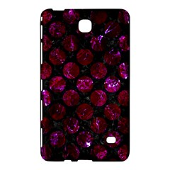 Circles2 Black Marble & Burgundy Marble Samsung Galaxy Tab 4 (8 ) Hardshell Case