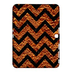Chevron9 Black Marble & Copper Foil (r) Samsung Galaxy Tab 4 (10 1 ) Hardshell Case