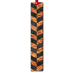 Chevron1 Black Marble & Copper Foil Large Book Marks