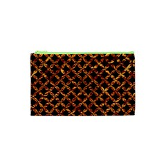 Circle3 Black Marble & Copper Foilper Foil Cosmetic Bag (xs)