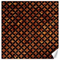 Circles3 Black Marble & Copper Foil (r) Canvas 20  X 20