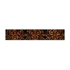Damask1 Black Marble & Copper Foil Flano Scarf (mini)