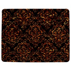 Damask1 Black Marble & Copper Foil Jigsaw Puzzle Photo Stand (rectangular)
