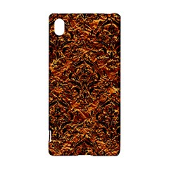 Damask1 Black Marble & Copper Foil (r) Sony Xperia Z3+