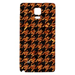 Houndstooth1 Black Marble & Copper Foil Galaxy Note 4 Back Case