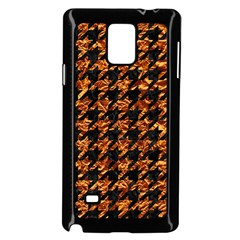 Houndstooth1 Black Marble & Copper Foil Samsung Galaxy Note 4 Case (black)