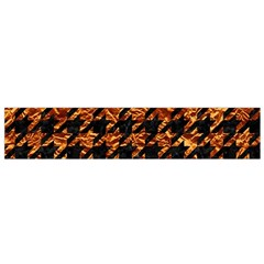 Houndstooth1 Black Marble & Copper Foil Flano Scarf (small)