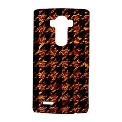 Houndstooth1 Black Marble & Copper Foil Lg G4 Hardshell Case