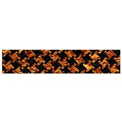 Houndstooth2 Black Marble & Copper Foil Flano Scarf (small)