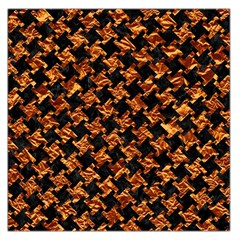 Houndstooth2 Black Marble & Copper Foil Large Satin Scarf (square)