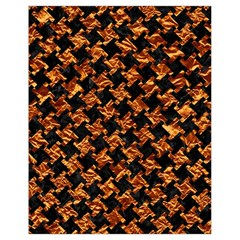 Houndstooth2 Black Marble & Copper Foil Drawstring Bag (small)