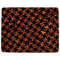 Houndstooth2 Black Marble & Copper Foil Jigsaw Puzzle Photo Stand (rectangular)