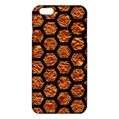 Hexagon2 Black Marble & Copper Foil (r) Iphone 6 Plus/6s Plus Tpu Case
