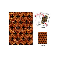 Royal1 Black Marble & Copper Foil Playing Cards (mini)