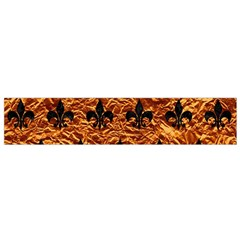 Royal1 Black Marble & Copper Foil Flano Scarf (small)