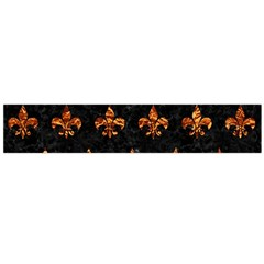 Royal1 Black Marble & Copper Foil (r) Flano Scarf (large)