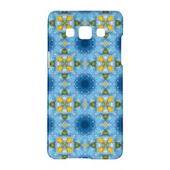Blue Nice Daisy Flower Ang Yellow Squares Samsung Galaxy A5 Hardshell Case