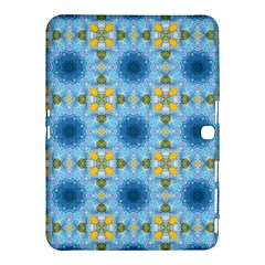 Blue Nice Daisy Flower Ang Yellow Squares Samsung Galaxy Tab 4 (10 1 ) Hardshell Case