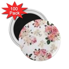 Pink And White Flowers  2 25  Magnets (100 Pack)