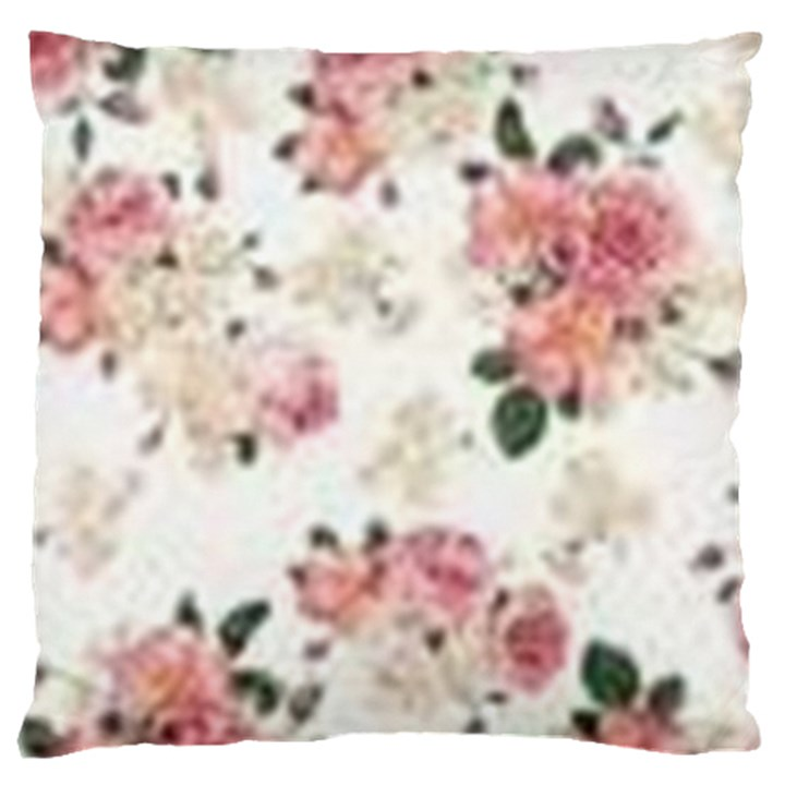 pink and white flowers  Large Cushion Case (Two Sides)