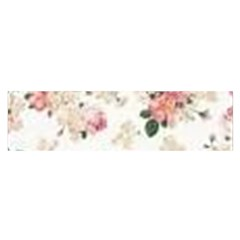 Pink And White Flowers  Satin Scarf (oblong)