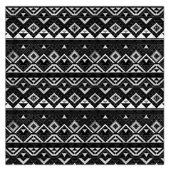 Aztec Influence Pattern Large Satin Scarf (square)