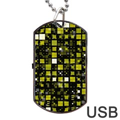 Small Geo Fun F Dog Tag Usb Flash (one Side)