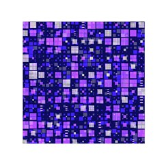 Small Geo Fun E Small Satin Scarf (square)