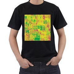 Abstract Art Men s T Shirt (black) (two Sided)