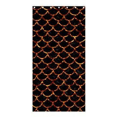 Scales1 Black Marble & Copper Foil Shower Curtain 36  X 72  (stall)