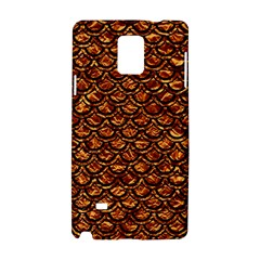 Scales2 Black Marble & Copper Foil (r) Samsung Galaxy Note 4 Hardshell Case