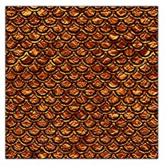 Scales2 Black Marble & Copper Foil (r) Large Satin Scarf (square)