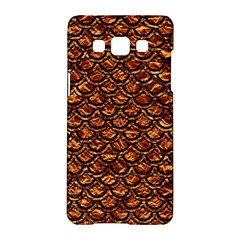 Scales2 Black Marble & Copper Foil (r) Samsung Galaxy A5 Hardshell Case