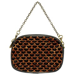 Scales3 Black Marble & Copper Foil Chain Purses (one Side)