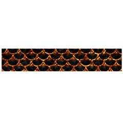 Scales3 Black Marble & Copper Foil Flano Scarf (large)