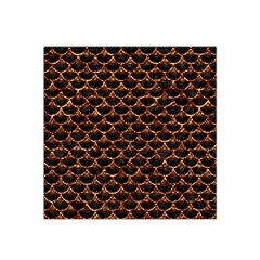 Scales3 Black Marble & Copper Foil Satin Bandana Scarf
