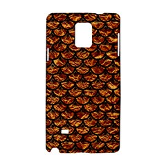 Scales3 Black Marble & Copper Foil (r) Samsung Galaxy Note 4 Hardshell Case
